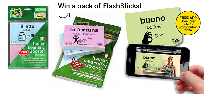 Are you learning Italian? Join this giveaway to win amazing prizes!