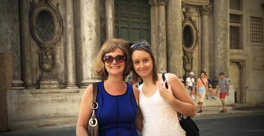 Studentessa Matta a Roma