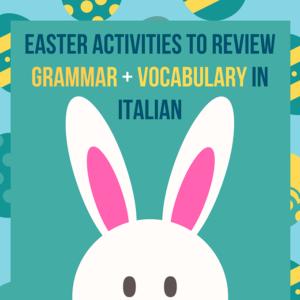 Italian Grammar Printable