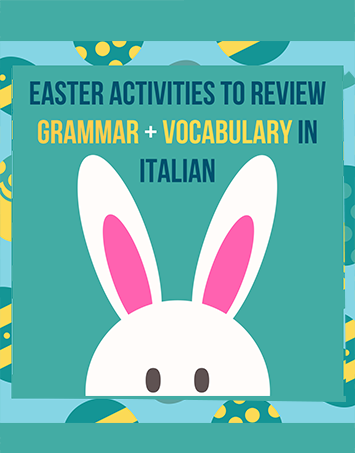 Easter Vocabulary in Italian - Download