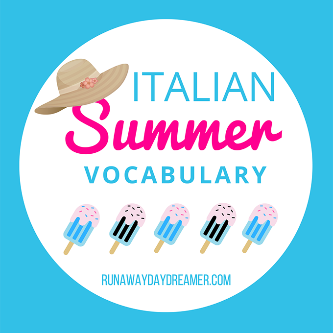 Italian Summer Vocabulary List